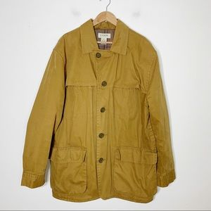 J CREW chino button up field jacket